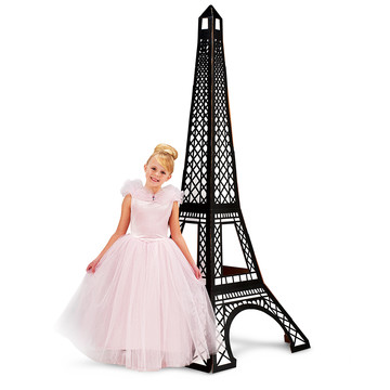 Paris Damask Eiffel Tower Standup - 7' Tall