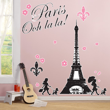 Paris Damask Giant Wall Decals