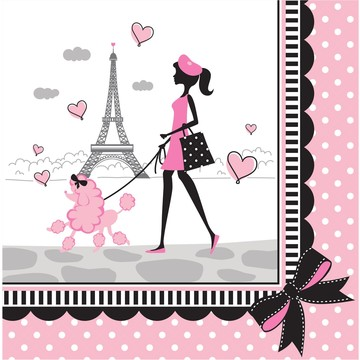 Paris Party Luncheon Napkins (16 Pack)