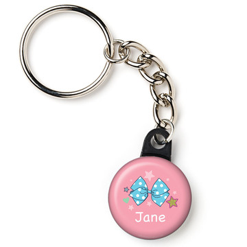 "Party Bows Personalized 1"" Mini Key Chain (Each)"