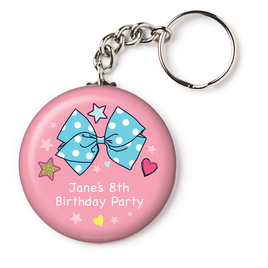 """View larger image of Party Bows Personalized 2.25"""" Key Chain (Each)"""