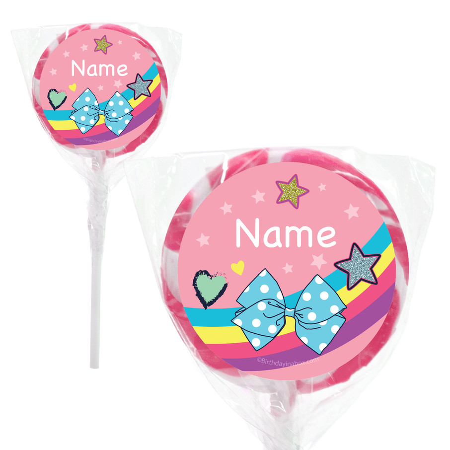 "View larger image of Party Bows Personalized 2"" Lollipops (20 Pack)"