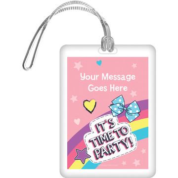 Party Bows Personalized Bag Tag (Each)