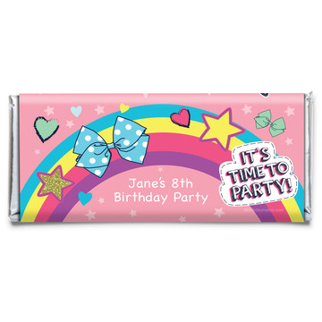 Party Bows Personalized Candy Bar Wrapper (Each)