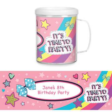 Party Bows Personalized Favor Mug (Each)