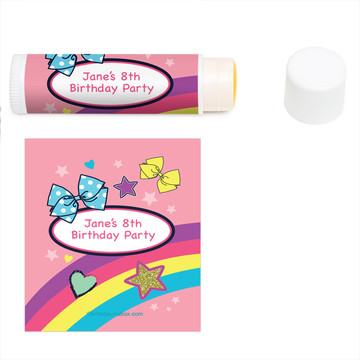Party Bows Personalized Lip Balm (12 Pack)