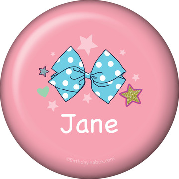 Party Bows Personalized Mini Button (Each)