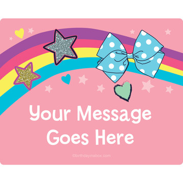 Party Bows Personalized Rectangular Stickers (Sheet of 15)