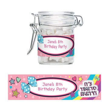 Party Bows Personalized Swing Top Apothecary Jars (12 ct)