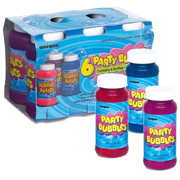 Party Bubbles Favor Pack (6-Pack)