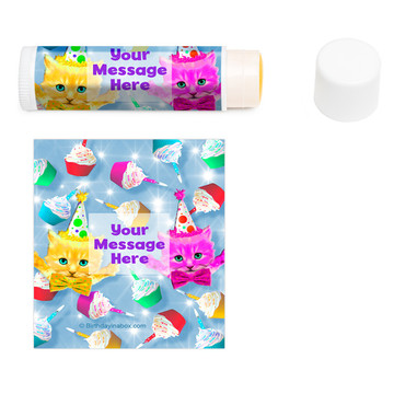 Party Cats Personalized Lip Balm (12 Pack)