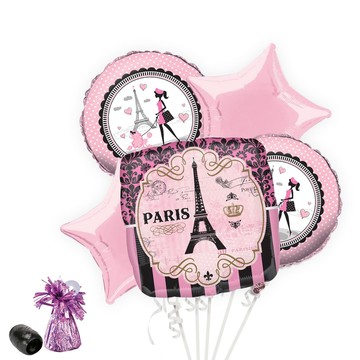 Party in Paris Balloon Bouquet Kit (Serves 8)