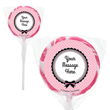 "Party in Paris Personalized 2"" Lollipops (20 Pack)"