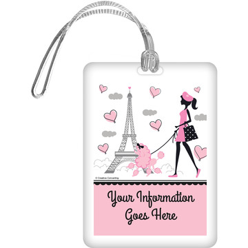 Party in Paris Personalized Bag Tag (Each)