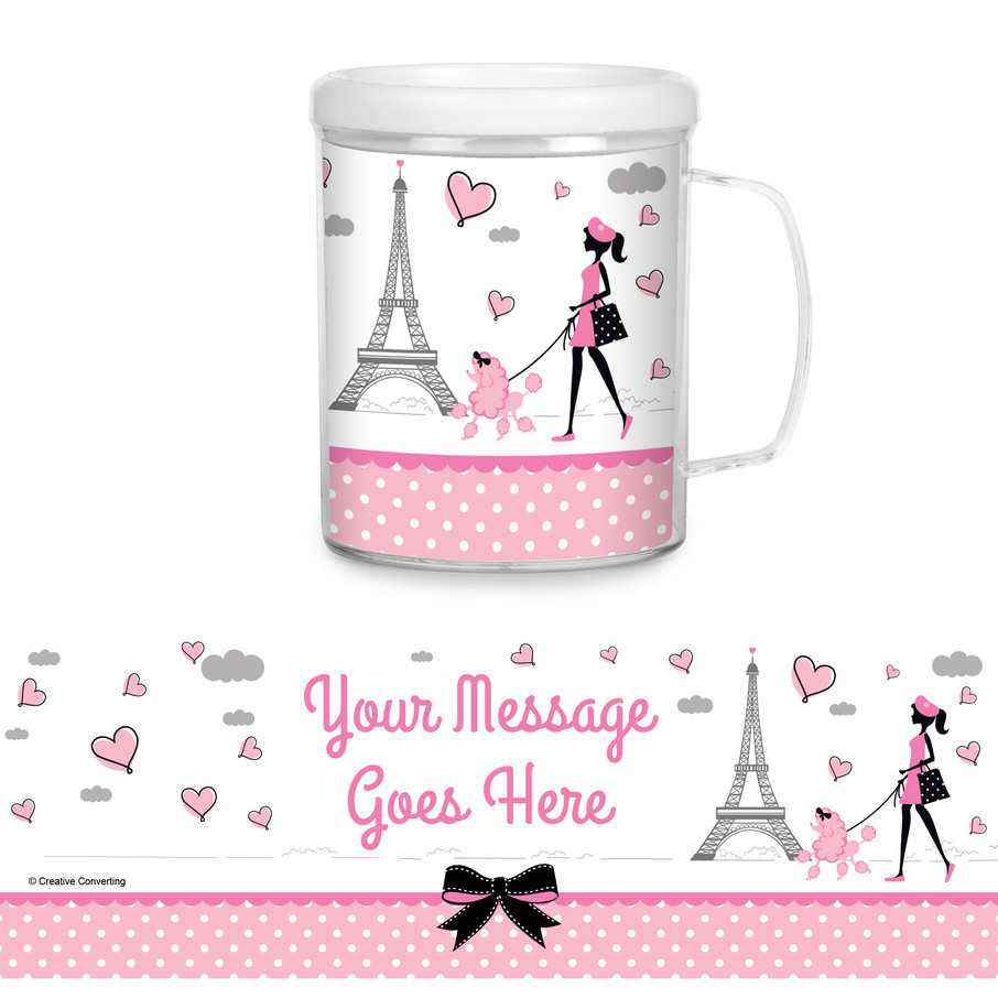 View larger image of Party in Paris Personalized Favor Mug (Each)