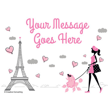 Party in Paris Personalized Rectangular Stickers (Sheet of 15)