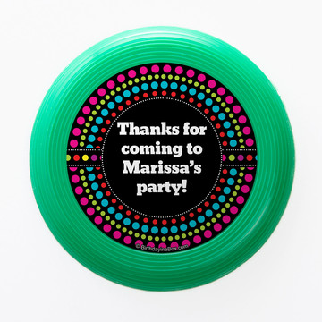 Party On Personalized Mini Discs (Set Of 12)