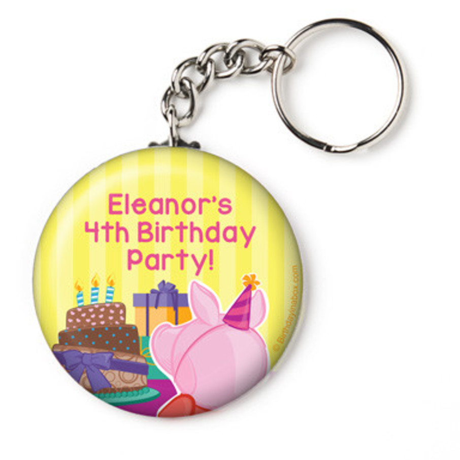 "View larger image of Party Pig Personalized 2.25"" Key Chain (Each)"