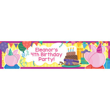 Party Pig Personalized Banner (Each)