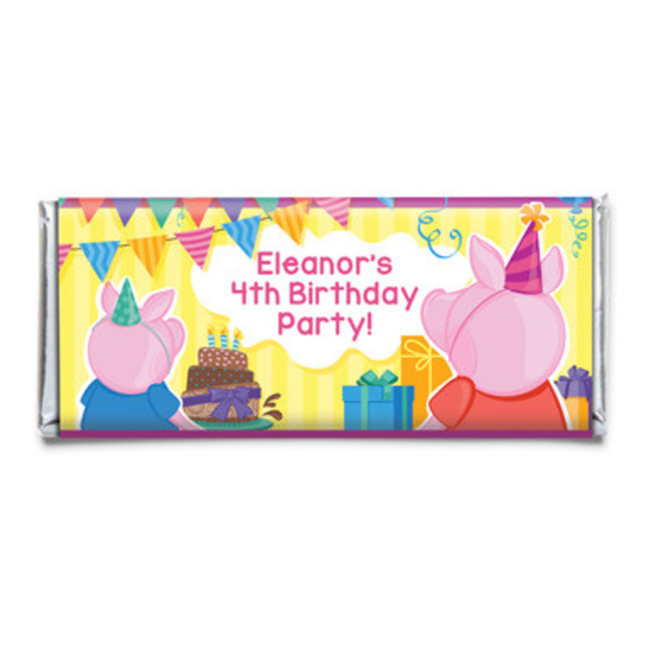View larger image of Party Pig Personalized Candy Bar Wrapper (Each)