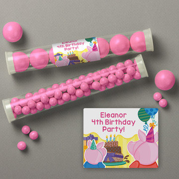 Party Pig Personalized Candy Tubes (12 Count)