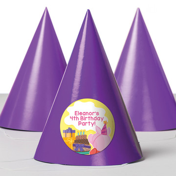 Party Pig Personalized Party Hats (8 Count)