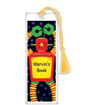 Party Robot Personalized Bookmark (each)