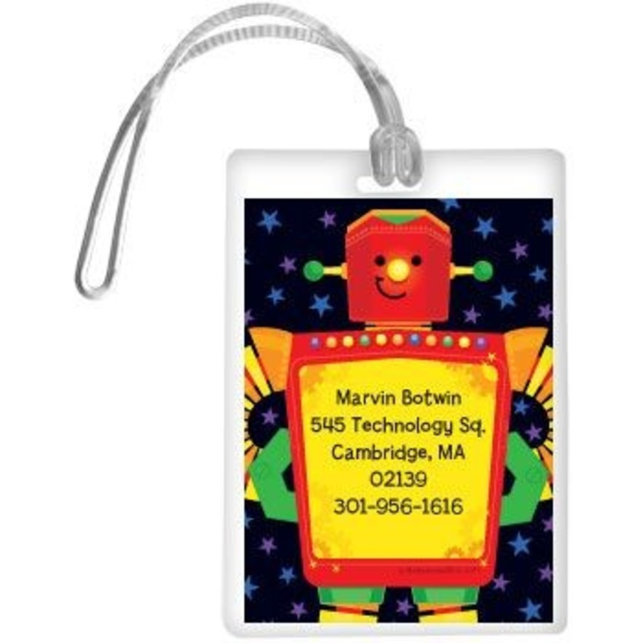 View larger image of Party Robot Personalized Luggage Tag (each)