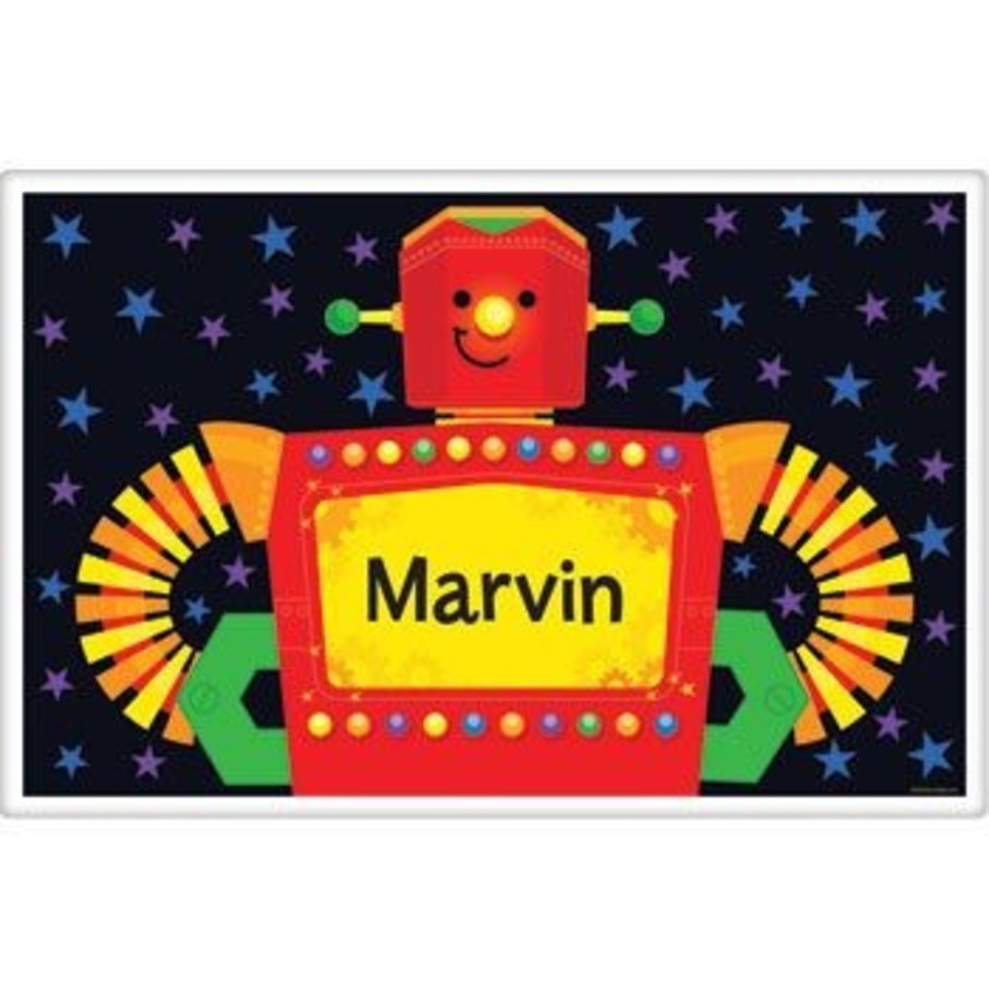 View larger image of Party Robot Personalized Placemat (each)