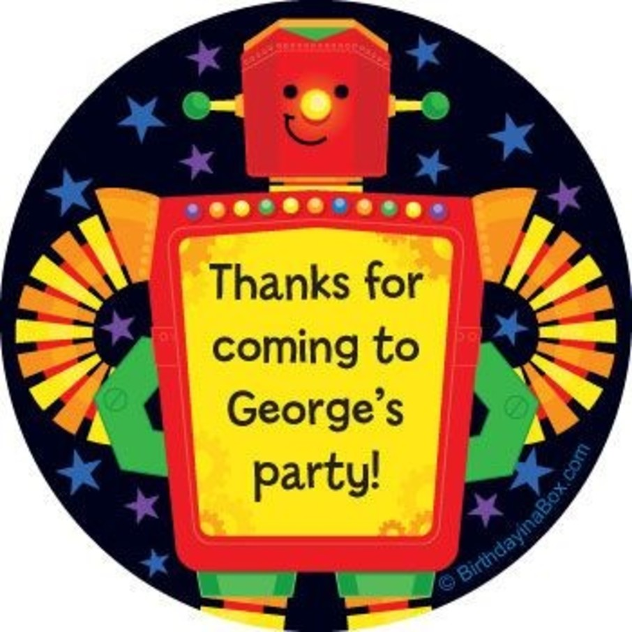 View larger image of Party Robot Personalized Stickers (sheet of 12)