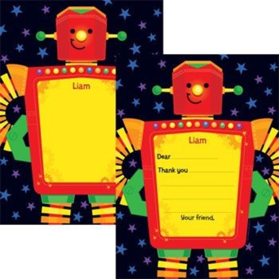 View larger image of Party Robot Personalized Thank You Note (each)