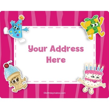 Partykin Personalized Address Labels (Sheet of 15)