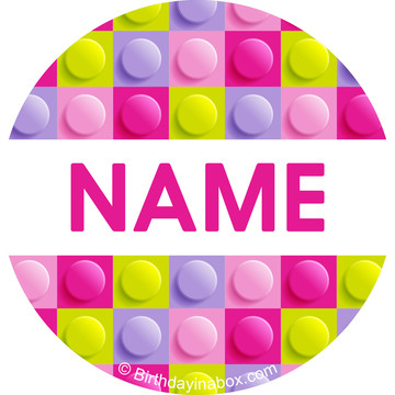 Pastel Block Party Personalized Mini Stickers (Sheet of 24)