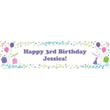 Pastel Personalized Banner (each)
