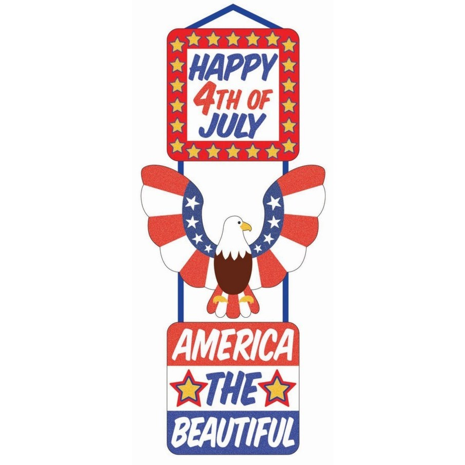 View larger image of Patriotic 3-Tier Glitter Plaque