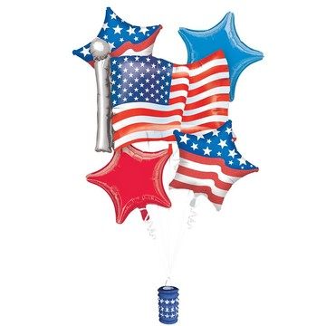Patriotic Balloon Bouquet (5 Count)