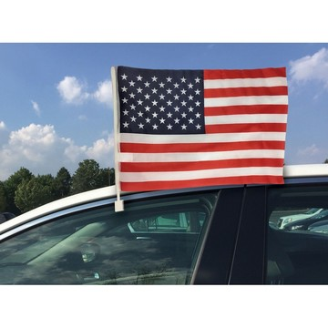 Patriotic Car Flag with Clip