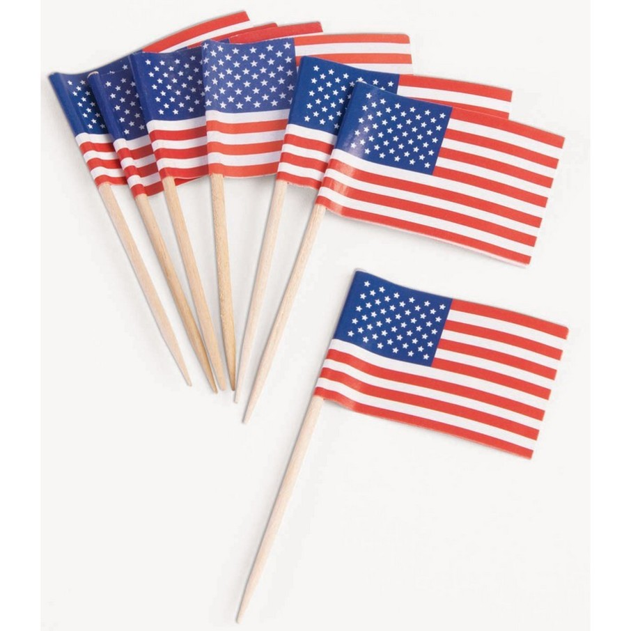 View larger image of Patriotic Flag Tooth Picks (50 Count)