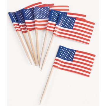 Patriotic Flag Tooth Picks (50 Count)