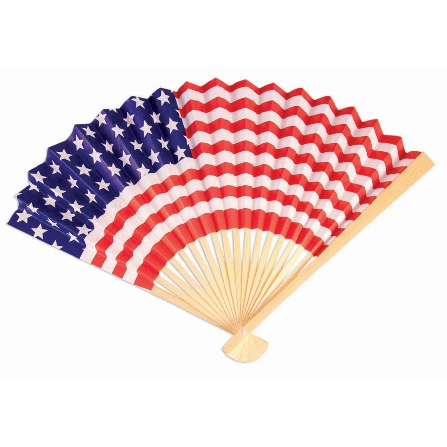 View larger image of Patriotic Paper Fan (1)