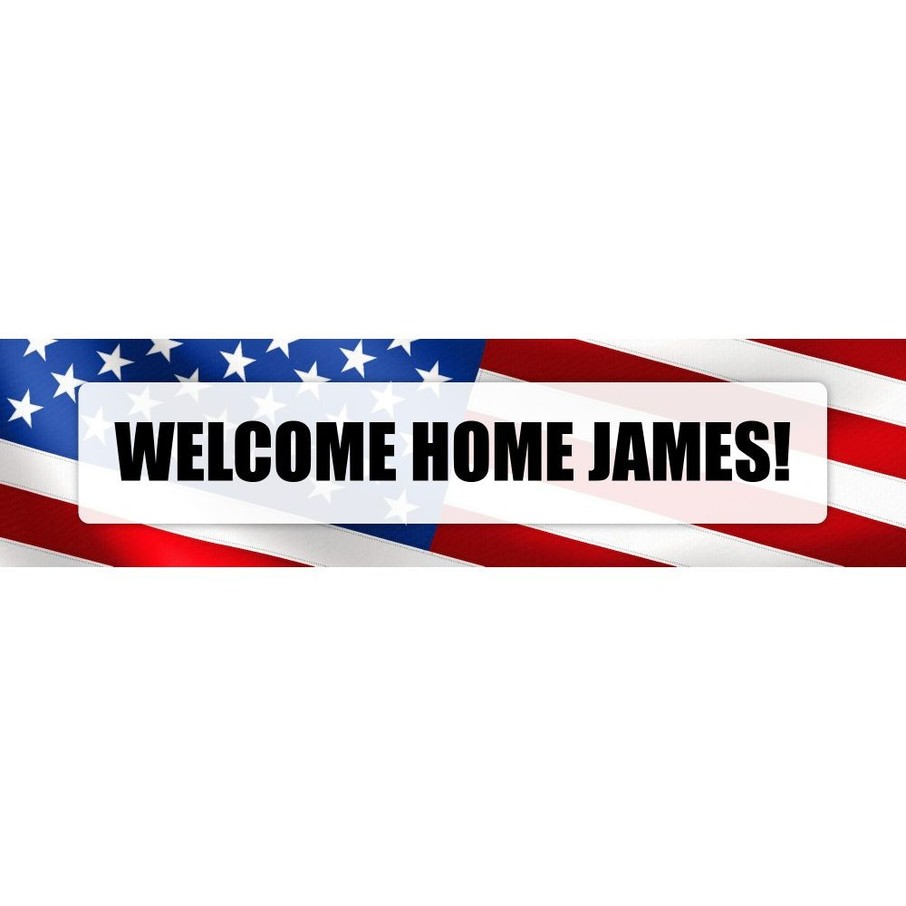 View larger image of Patriotic Personalized Banner (Each)
