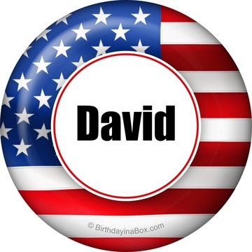 Patriotic Personalized Button (Each)