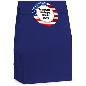 Patriotic Personalized Favor Bag (Set Of 12)