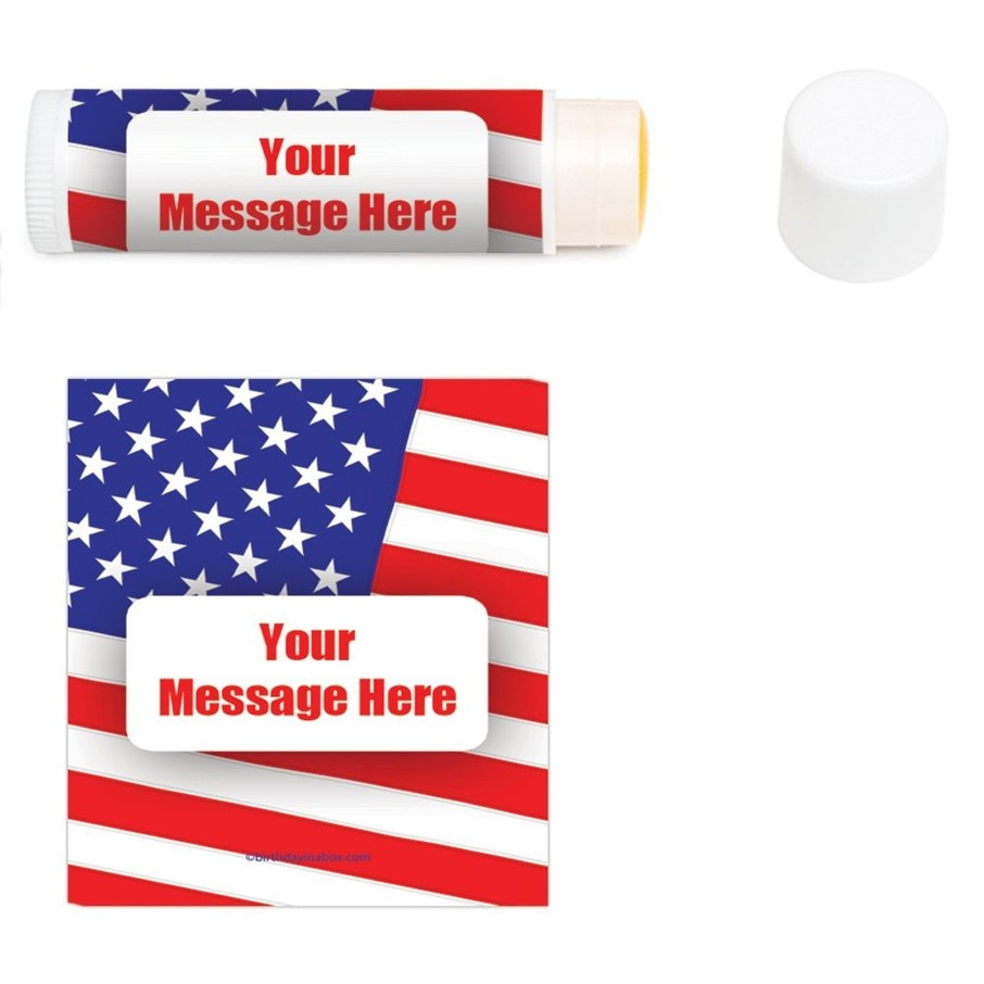 View larger image of Patriotic Personalized Lip Balm (12 Pack)