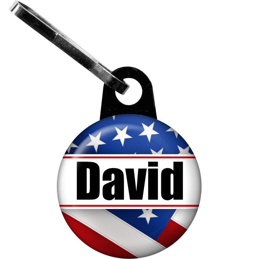 View larger image of Patriotic Personalized Zipper Pull (Each)