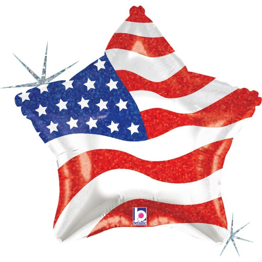 """View larger image of Patriotic Star 19"""" Foil Balloon (Each)"""