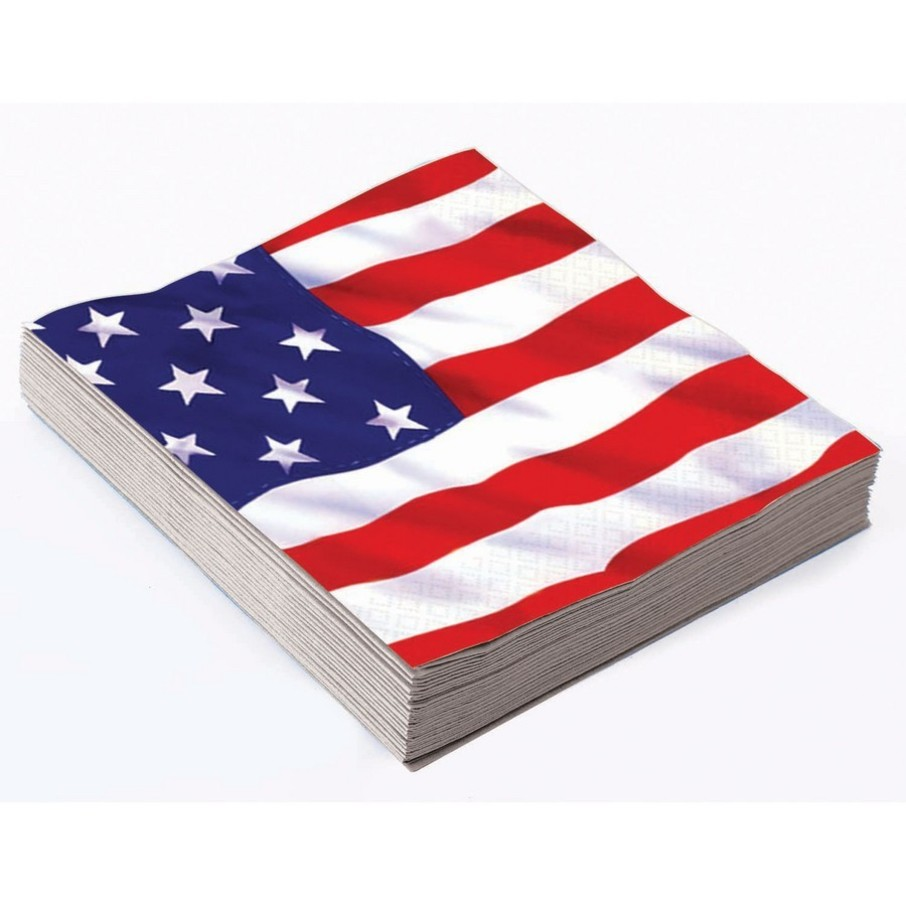 View larger image of Patriotic Stars & Stripes Lunch Napkin (16)