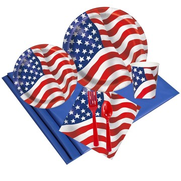 Patriotic USA Flag Party Pack (8)