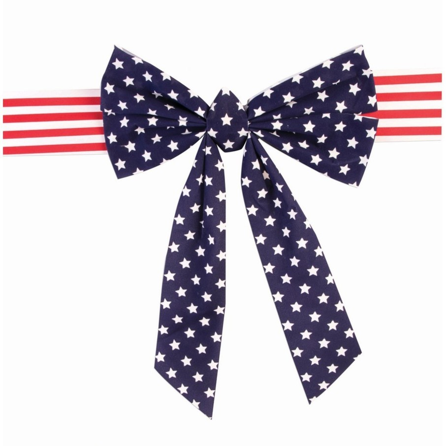 View larger image of Patriotic Velvet Chair Bow (1)