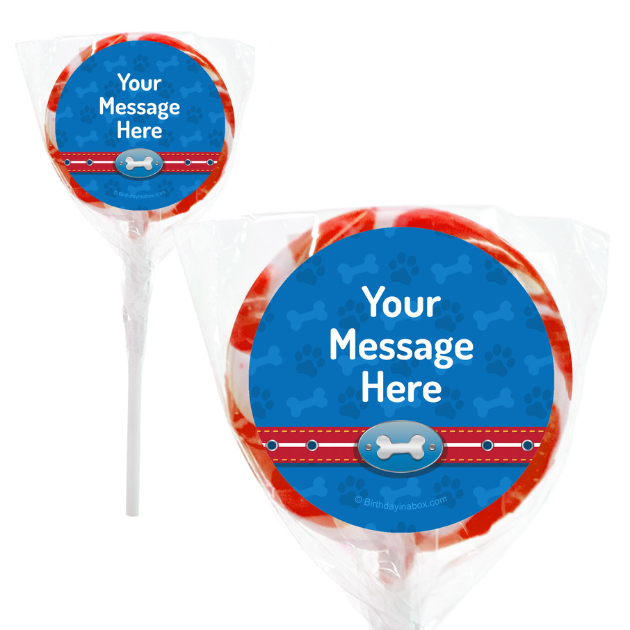 """View larger image of Paw Command Personalized 2"""" Lollipop (24 Pack)"""
